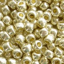 Toho 6/0 Seed Beads Permanent Finish Galvanised Aluminium PF558 - 10 grams